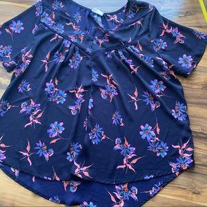 Sienna sky floral blouse L
